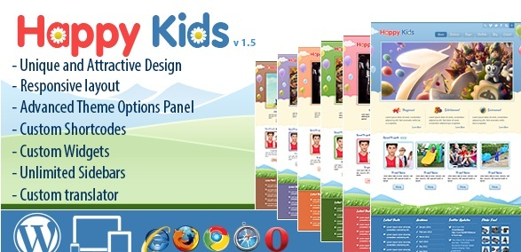 Happy Kids v3.2.4 – Children WordPress Theme - themesdad - Download ...