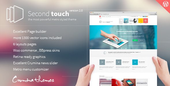 Second Touch v1.7.8 – Powerful Metro Styled WordPress Theme ...
