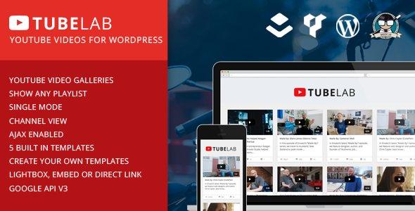 Tubelab v1.0 – YouTube plugin for WordPress - themesdad - Download ...