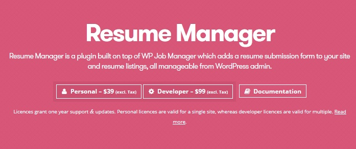 WP Job Manager – Resume Manager v1.15.2 - themesdad - Download Free ...