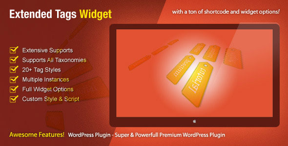 Extended Tags Widget v1.2.3 – WordPress Premium Plugin - themesdad ...