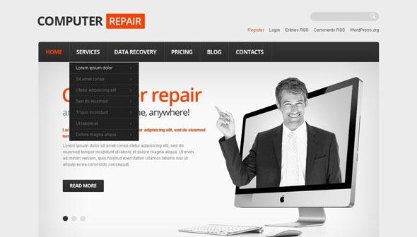 Computer Repair – Templatemonster Responsive WordPress Theme ...