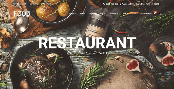 Food v210 a wp delicious restaurant candy shop theme download free food wordpress theme v210 forumfinder Image collections