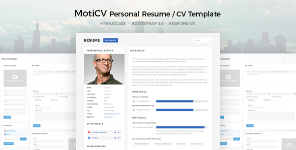 curriculum vitae wordpress template resume plugin theme forest download responsive
