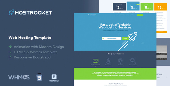 Hostrocket – Responsive WHMCS & HTML Template - themesdad - Download ...