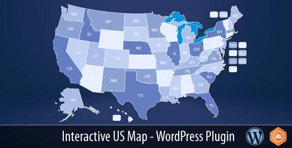Interactive US Map V WordPress Plugin Themesdad - Free interactive us map