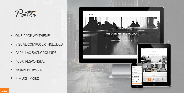 Patti v2.9.3 – Parallax One Page WordPress Theme - themesdad ...