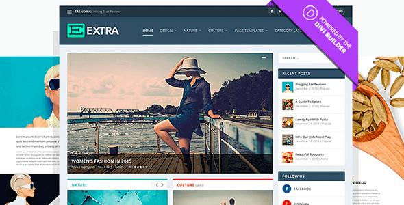 Extra v2 responsive ultimate magazine wordpress - Divi builder 2 0 7 ...