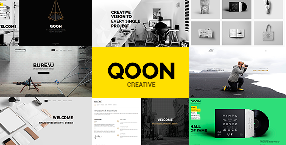 QOON v1.0.8 – Creative Portfolio & Agency WordPress Theme ...