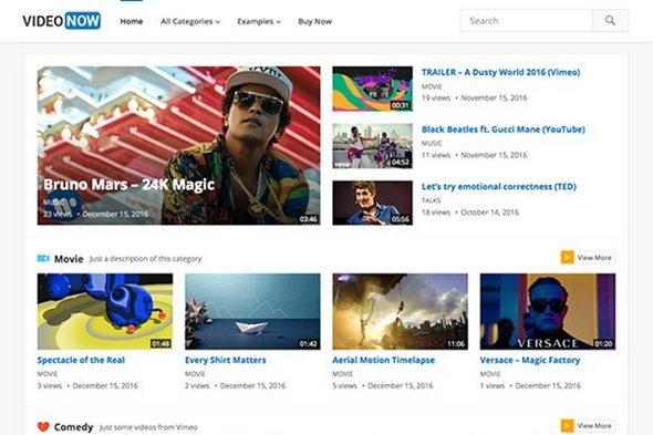CreativeMarket - VideoNow v1.9 - WordPress Video Theme - themesdad ...